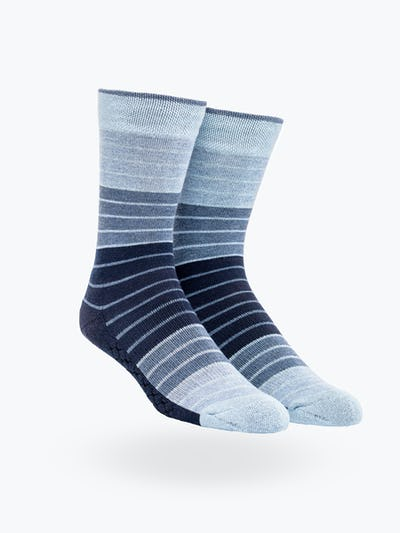 Blue Stripe Gradient Atlas Dress Sock