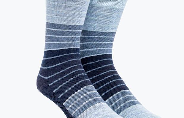 Blue Stripe Gradient Atlas Dress Sock