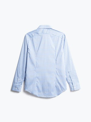 men's blue grid aero zero dress shirt back