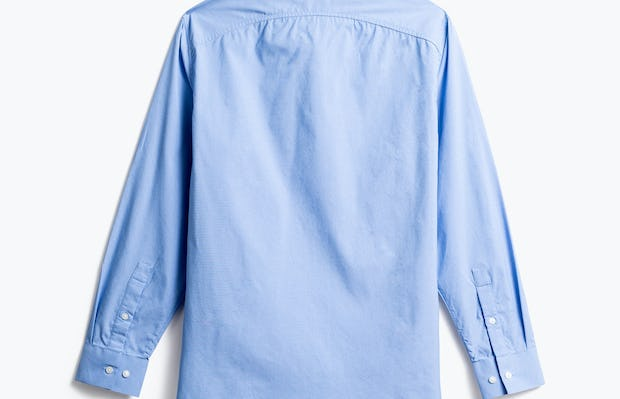 men's solid blue nylon aero zero dress shirt back