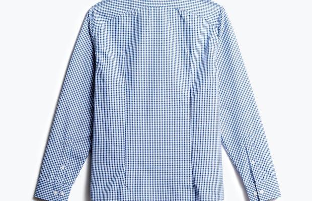 men's blue box plaid aero zero dress shirt back