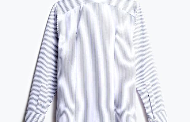 men's blue stripe aero zero dress shirt back