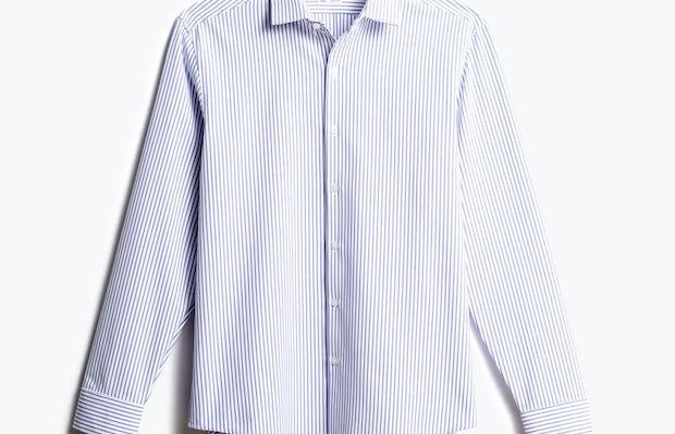 men's blue stripe aero zero dress shirt front