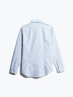 men's blue tattersall aero zero dress shirt back