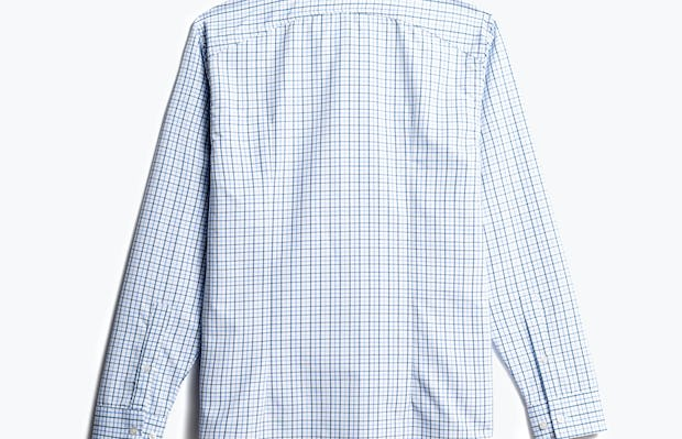 men's blue tattersall aero zero dress shirt back