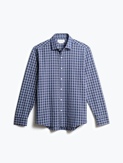 men's midnight multi plaid aero zero dress shirt front