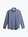 men's midnight multi plaid aero zero dress shirt front