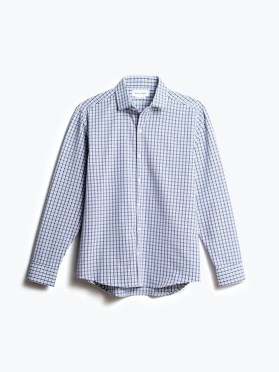 men's midnight stripe plaid aero zero dress shirt front
