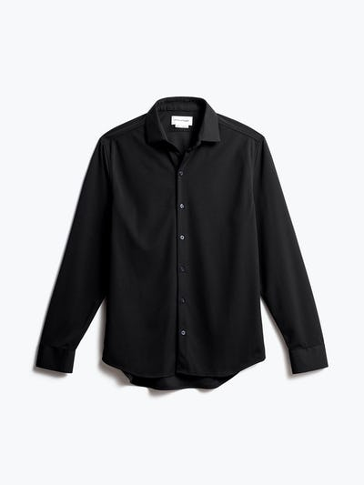 men's black apollo dress shirt front