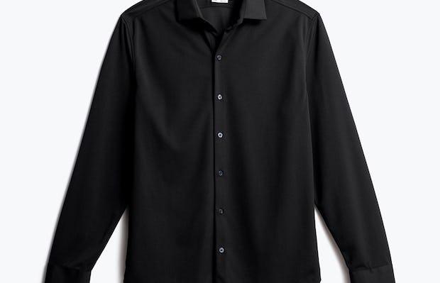 men's black apollo dress shirt front