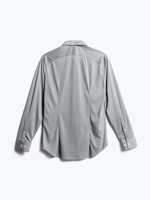 men's grey oxford recycled brushed apollo dress shirt back
