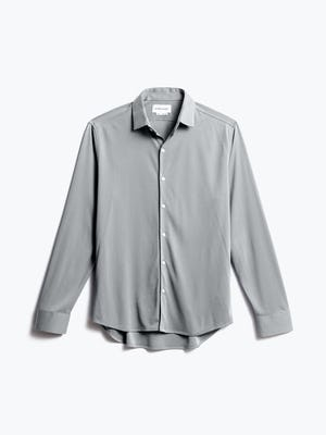 men's grey oxford recycled brushed apollo dress shirt front