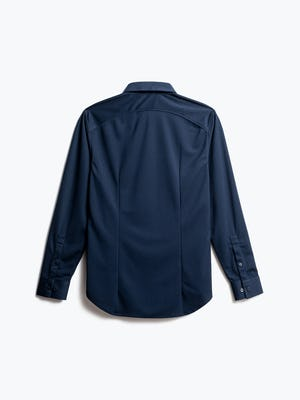 men's navy apollo dress shirt back