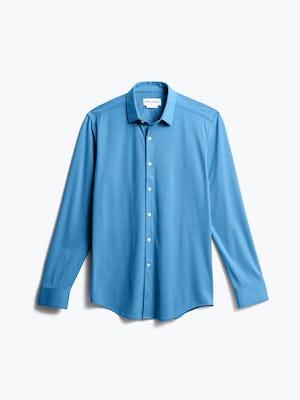 men's storm blue brushed apollo dress shirt front