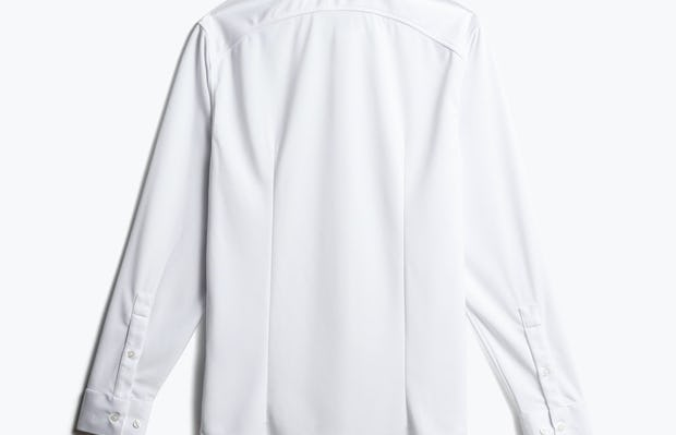 men's white apollo dress shirt back