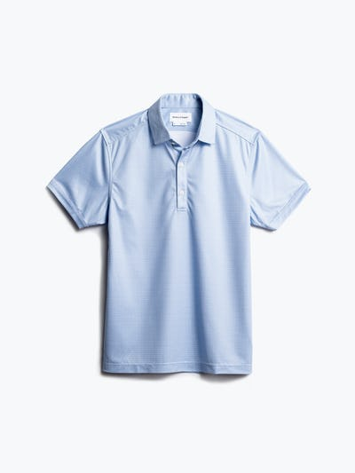 men's blue degree print apollo polo front