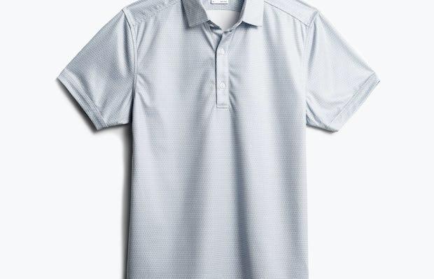 men's grey degree print apollo polo front