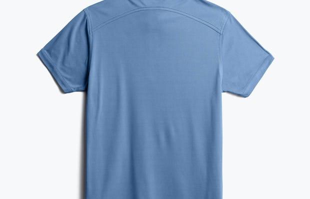 men's royal blue heather apollo polo back
