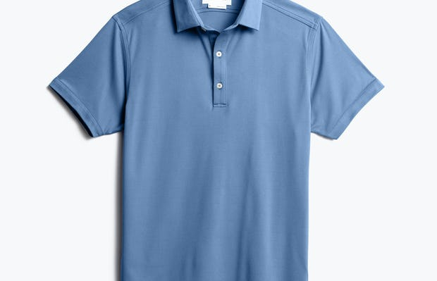 men's royal blue heather apollo polo front