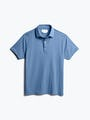 men's royal blue heather apollo polo front
