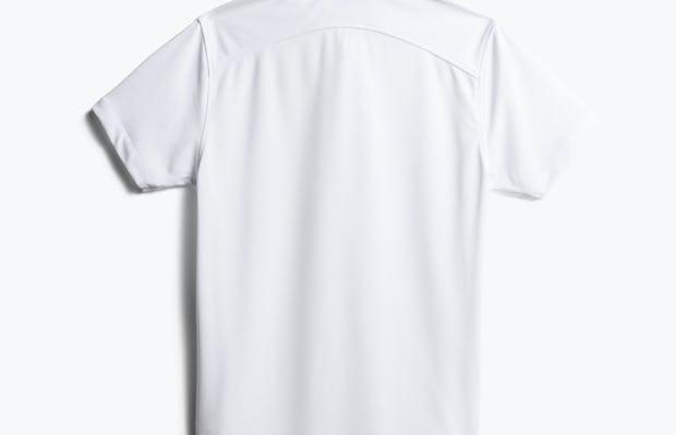 men's white apollo polo back