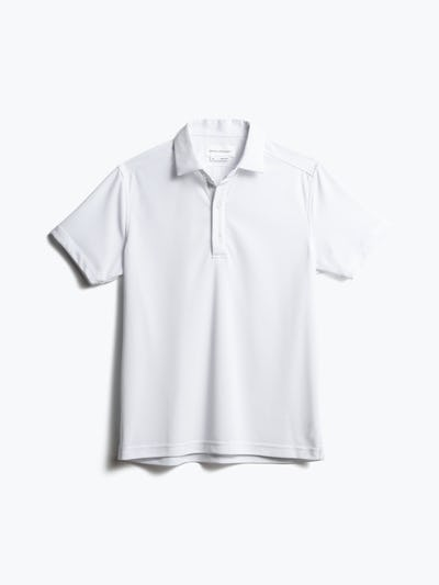 men's white apollo polo front