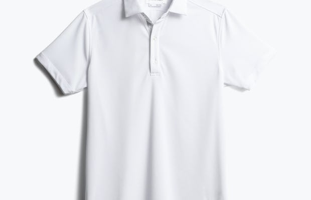 men's white apollo polo front