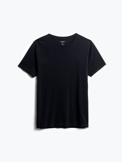men's black atlas crew neck tee front