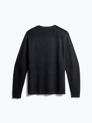 men's charcoal static atlas sweater back