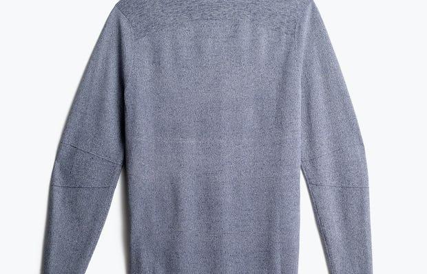 men's indigo static atlas sweater back