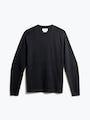 men's charcoal static atlas sweater crew neck front