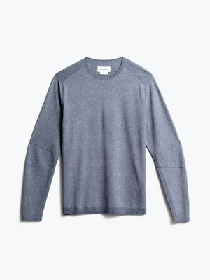 men's indigo static atlas sweater crew neck front