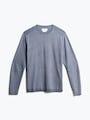 men's indigo static atlas sweater crew neck front