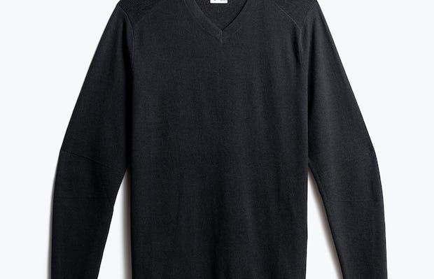 men's charcoal static atlas sweater v neck front