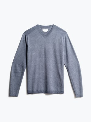 men's indigo static atlas sweater v neck front