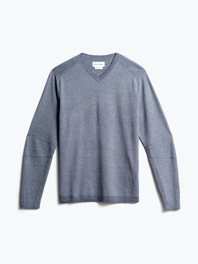 men's indigo static atlas sweater v neck front