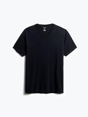 men's black atlas v neck tee front