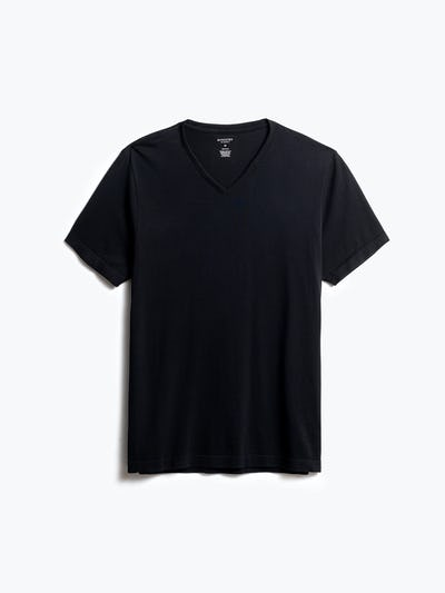 men's black atlas v neck tee front