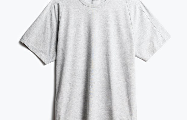 men's light grey composite active tee front