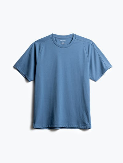 men's storm blue composite active tee front