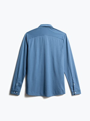 men's storm blue composite dress shirt back