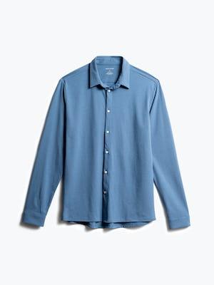 men's storm blue composite dress shirt front
