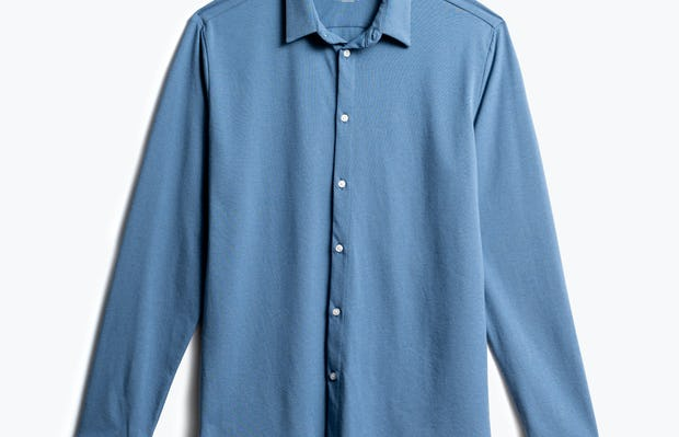 men's storm blue composite dress shirt front