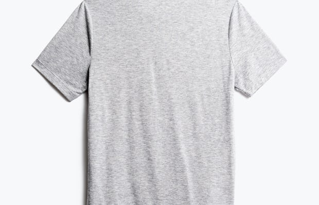 men's pale grey heather composite merino tee back