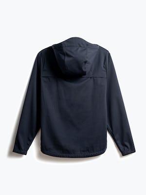men's navy doppler packable jacket back