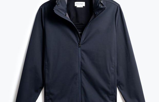 men's navy doppler packable jacket front