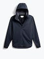 men's navy doppler packable jacket front