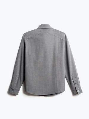 men's flint grey fusion overshirt back