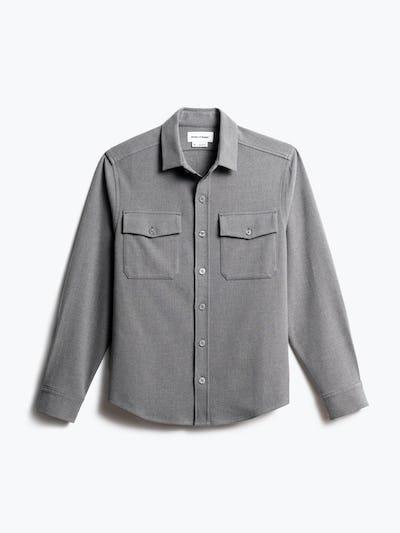 men's flint grey fusion overshirt front