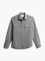 men's flint grey fusion overshirt front